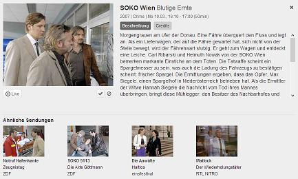 Soko Wien - Zattoo Live Stream